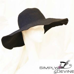 Black summer sunhat PB91